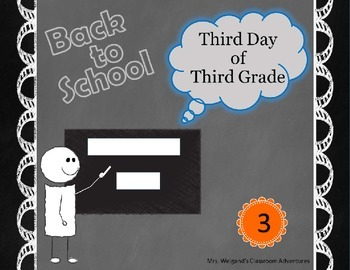 Third Day of Third Grade ~ 3rd Day of Third Grade