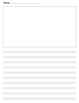 Third Fourth Grade Journal writing paper Calkins No top li