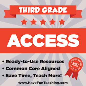 Third Grade ACCESS Sample - 1 WEEK OF TEACHING RESOURCES