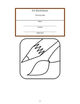 Third Grade Art Workbook