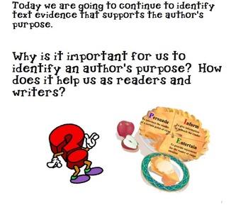 Third Grade Author's Purpose Lesson