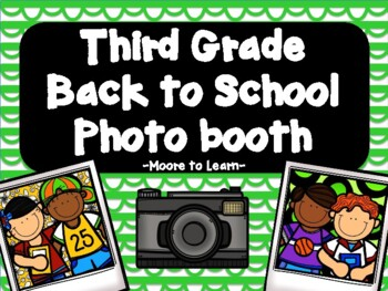 Third Grade Back to School Photo Booth 2016