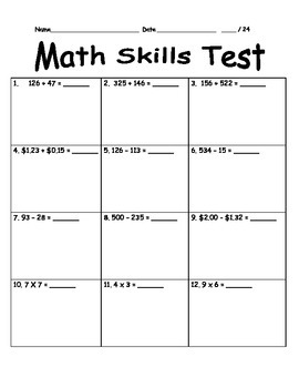 Third Grade Basic Skills Test