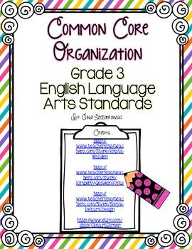 Third Grade CCSS Organization Set RLA
