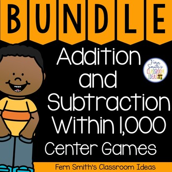 Quick and Easy to Prep Bundle of Math Centers and Printabl