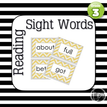 Third Grade Chevron Sight Words