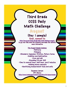 Third Grade Common Core Daily Math