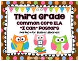 "Third Grade Common Core ELA ""I Can"" Posters {Owl and Choco"