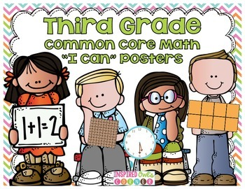 """Third Grade Common Core """"I Can"""" Math Posters {Cute Kiddos"""