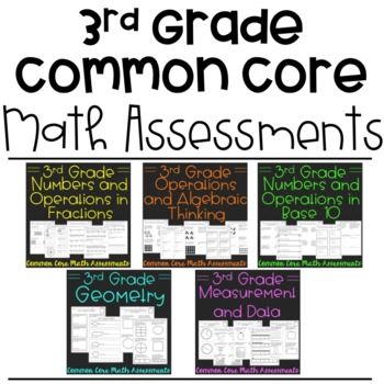 Third Grade Math Assessments for Common Core