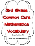 Third Grade Common Core Math Vocabulary Cards