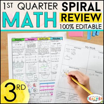 3rd Grade Math Homework or 3rd Grade Morning Work for 1st