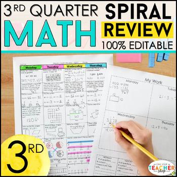 3rd Grade Math Homework or 3rd Grade Morning Work for 3rd