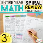 3rd Grade Math Homework 3rd Grade Morning Work for Daily Math Spiral Review