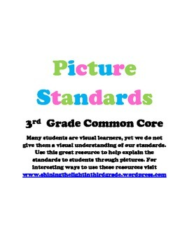 Third Grade Common Core Standards (Picture Form) for Inter