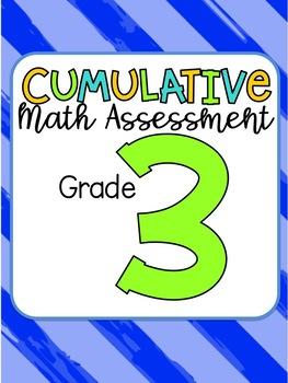Third Grade Cumulative Math Assessment