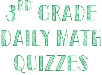 Third Grade Daily Math Quizzes