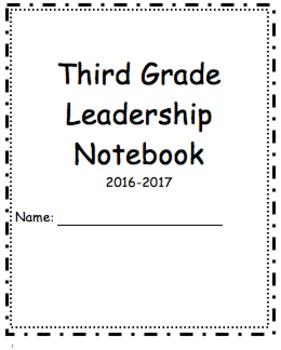 Third Grade Data Tracker/ Third Grade Leadership Notebook