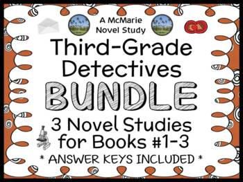 Third-Grade Detectives BUNDLE : 3 Novel Studies for Books
