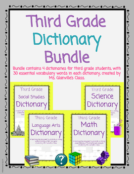 Third Grade Dictionary Bundle