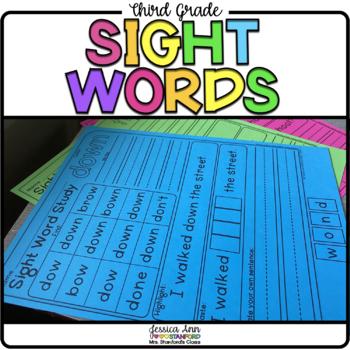 Third Grade Dolch Sight Word Packet - 3rd Grade
