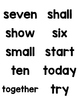 Third Grade Dolch Sight Words