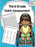 Third Grade Dolch Word Assessment