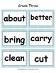Third Grade Dolch Word Card Set