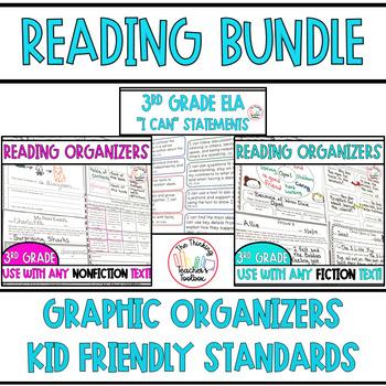 Third Grade ELA Common Core BUNDLE - Assessments/ Kid Frie