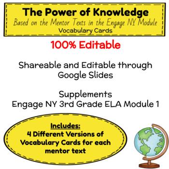 Engage NY Third Grade ELA Module 1 Vocabulary Cards