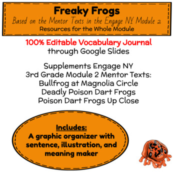 Engage NY Third Grade ELA Module 2 Vocabulary Cards