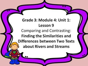 Third Grade ELA Module 4: Unit 1: Lesson 9