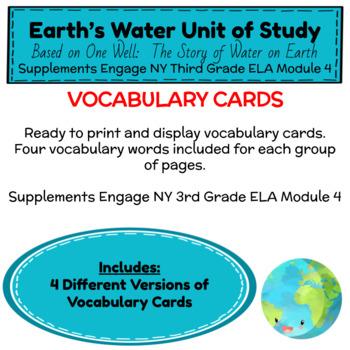 Engage NY Third Grade ELA Module 4 Vocabulary Cards