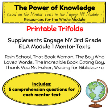 Engage NY Third Grade ELA Module 1 Comprehension Trifolds