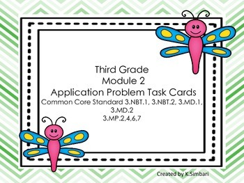 Third Grade EngageNY Math Module 2 Application Problem Task Cards