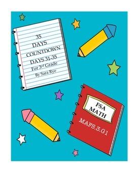 Third Grade FSA Assessment Math 35 Day Countdown Days 31-35