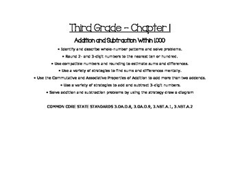 Third Grade Go Math Common Core Objectives