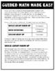Third Grade Guided Math ~ Multiplication Properties & Equations