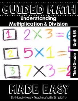 Third Grade Guided Math ~ Understanding Multiplication and