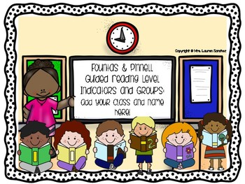 Third Grade Guided Reading Level Indicators and Groupings