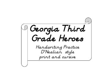 Third Grade Heroes Quotes for Handwriting- DN style