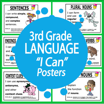 "3rd Grade Language ""I Can"" Posters"
