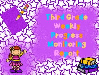 Third Grade Intervention Progress Monitoring Data Sheet/ Report
