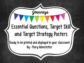 Third Grade Journeys - Essential Questions, Target Skill &