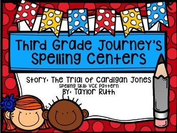 Third Grade Journey's Spelling Centers & Activities:The Tr