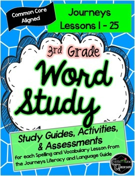 Third Grade Journeys Word Study - Study Guides, Posters, A