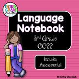 Language Interactive Notebook -- Third Grade CCSS Language