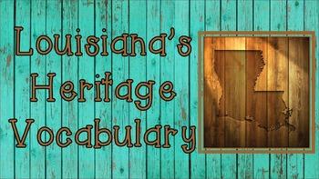 Third Grade Louisiana's Heritage Unit 2 Vocabulary Presentation