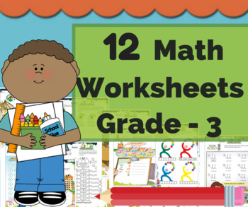 Third Grade Math/ 3rd Grade Math Bundle - Math Center