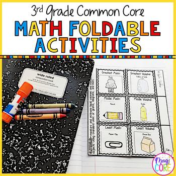 3rd Grade Math Common Core Flip Flap Foldables